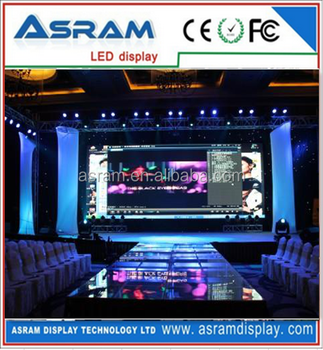 P10 indoor full color advertising/stage LED display/ video wall/panel screen