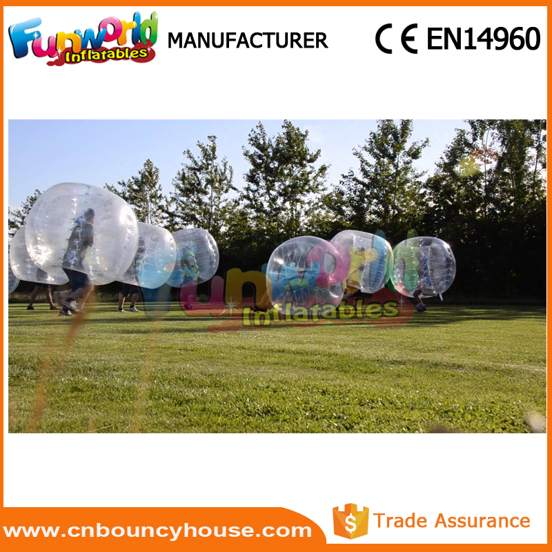 Inflatable bumper ball football zorb bubble soccer for kids