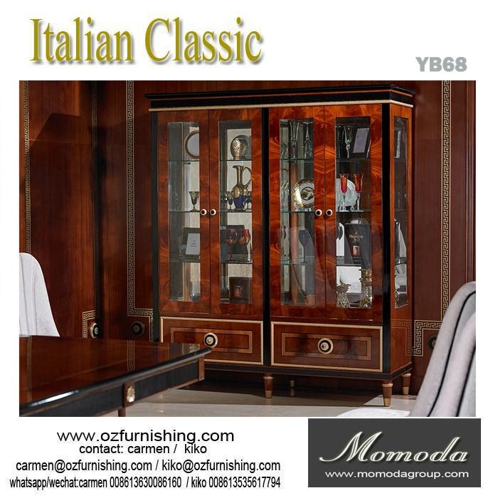 YB68 Antique wine cabinet display cabinets luxury living room 4 door wine  cabinet furniture - YB68 Antique Wine Cabinet Display Cabinets Luxury Living Room 4 Door