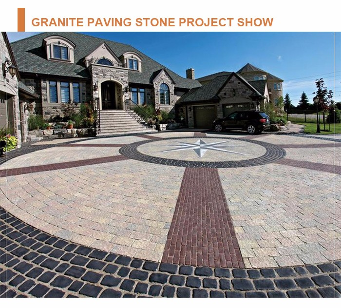 Wholesale beautiful decorative natural outdoor granite paving stone