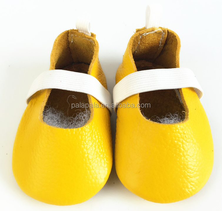 Fashion Light Yellow Toddler Baby Ballet Shoes Cute Girls Children Baby Moccasins Mary Jane Infant Shoes
