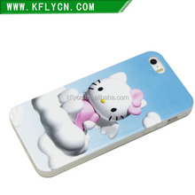 lovely Hello Kitty painted high quality PC phone case for iphone