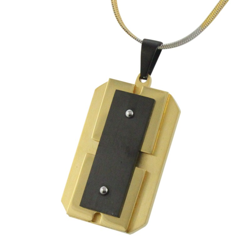 New design stainless steel plated cheap gold pendant for men