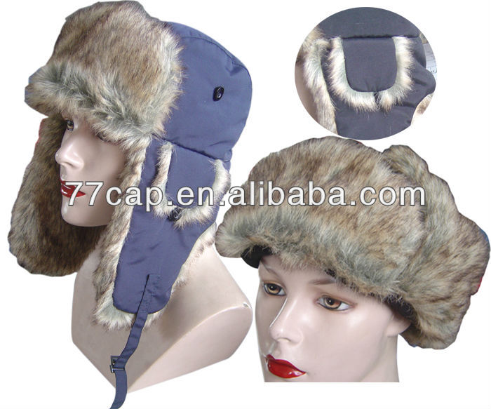 leather winter hats with earflaps