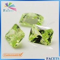 Apple Green Loose Cubic Zirconia Stones Uncut Rough Colored Diamonds Hot Selling