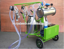 110V high quality cow milker Stainless Steel barrels Vacuum Pump Cow milking machine kenya HJ-CM011