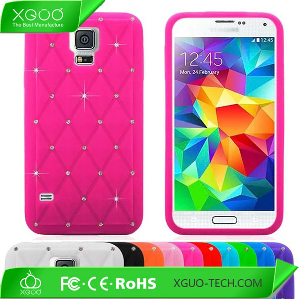 silicone skin bling case for galaxy s5