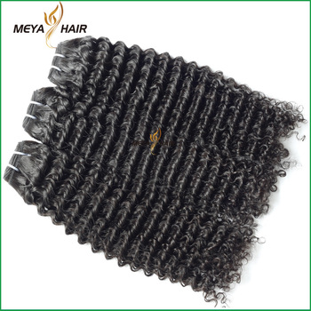 kiss locks human hair Indian pure hair curly hair weaving of booming product