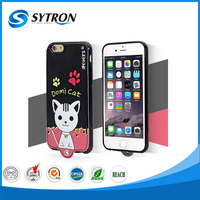 Cute cartoon back cover design ganging neck leather case power bank case for iphone 6