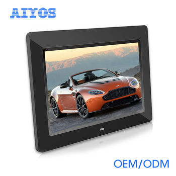 10 inch LED Display Multi-media Digital Photo Frame with Holder & Music & Movie Player, Support SD / MS / MMC Card & USB