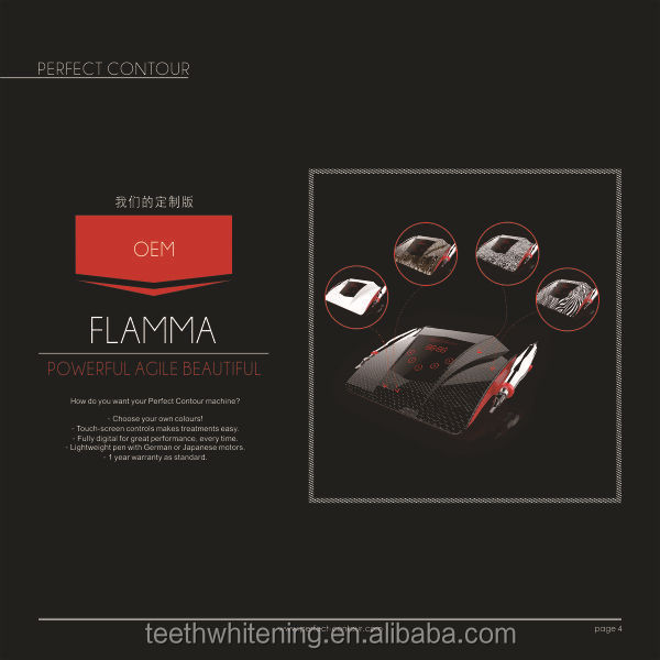 Flamma electric gun type digital permanent make up tattoo machine