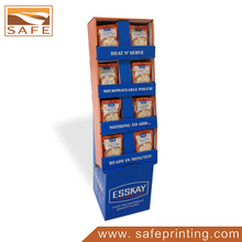 cardboard products advertising floor acrylic jewerly display stand