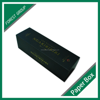 CUSTOM MAGNETIC CLOSURE GIFT BOX BLACK WINE GIFT BOX WITH MATT LAMINATION