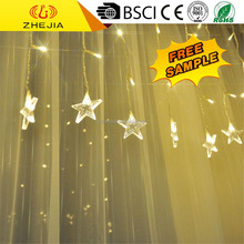 Popular Best Service christmas green outdoor window led curtain icicle fish net lights string