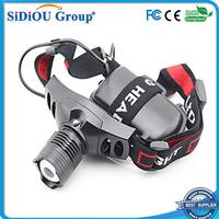 high power zoom 1000 lumen led headlamp