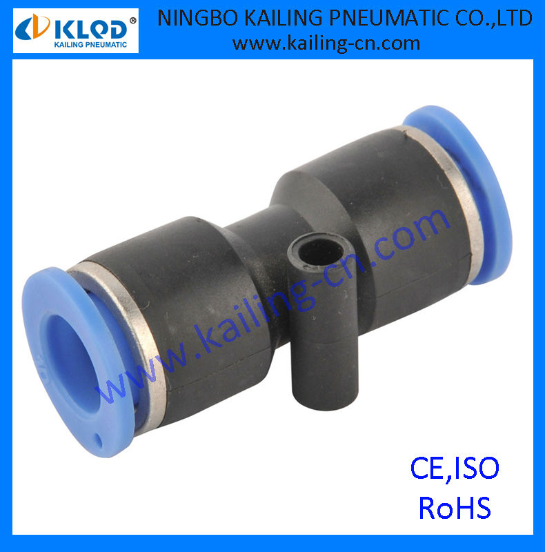 union straight air fittings, plastic material, PUC-6