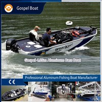 CE certification 5m leisure aluminum speed fishing bass boat for fisherman