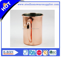 High quality stainless steel copper mug drum copper cup double wall mug