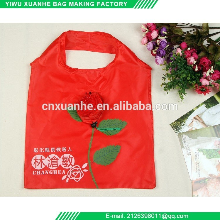 Economic and Reliable foldable 190t polyester shopping bag