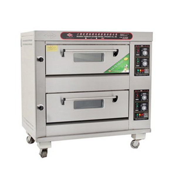 Double Deck Bread Baking Gas Oven / Bakery Equipment Prices