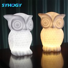 New Baby Bedroom Lamps Cartoon Silicone Sleep Led Children Owl Usb Night Light