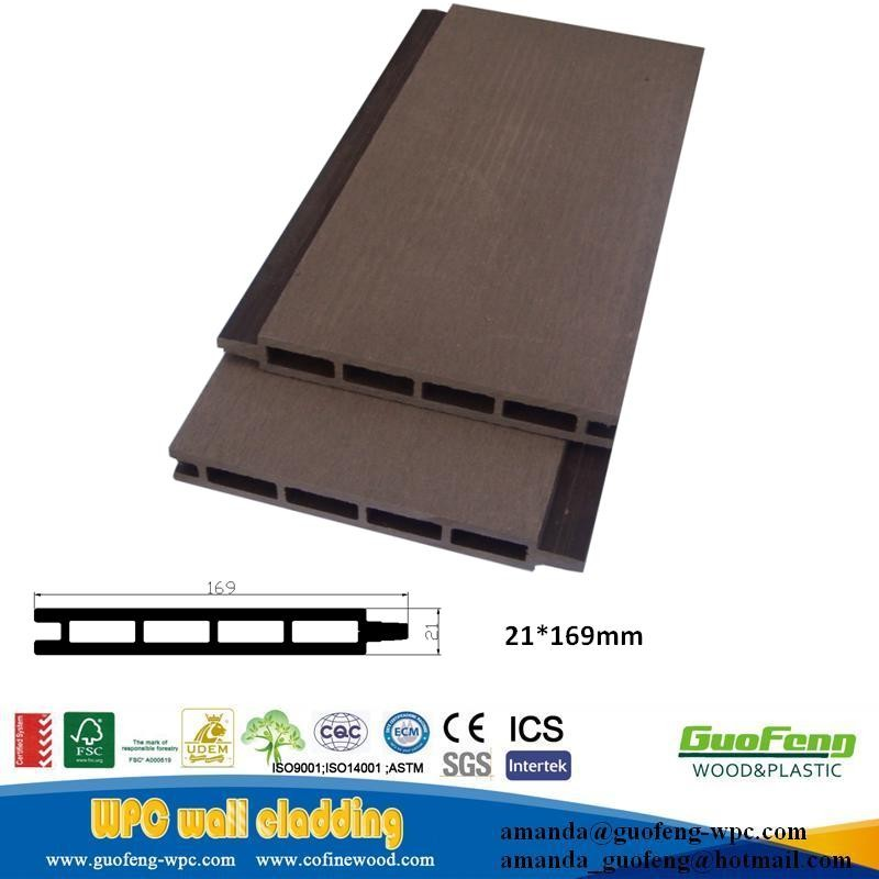 waterproof exterior wall facade panel wpc wall covering