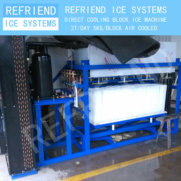 2T Direct Cooling Aluminium Freezing Plate Block Ice Machine