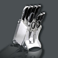 ECO-Friendly 9 Piece Knife Set In Acryle Knife Block