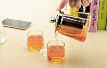 wedding favors 400ml mini high clear heat resistant glass tea pot with infuser
