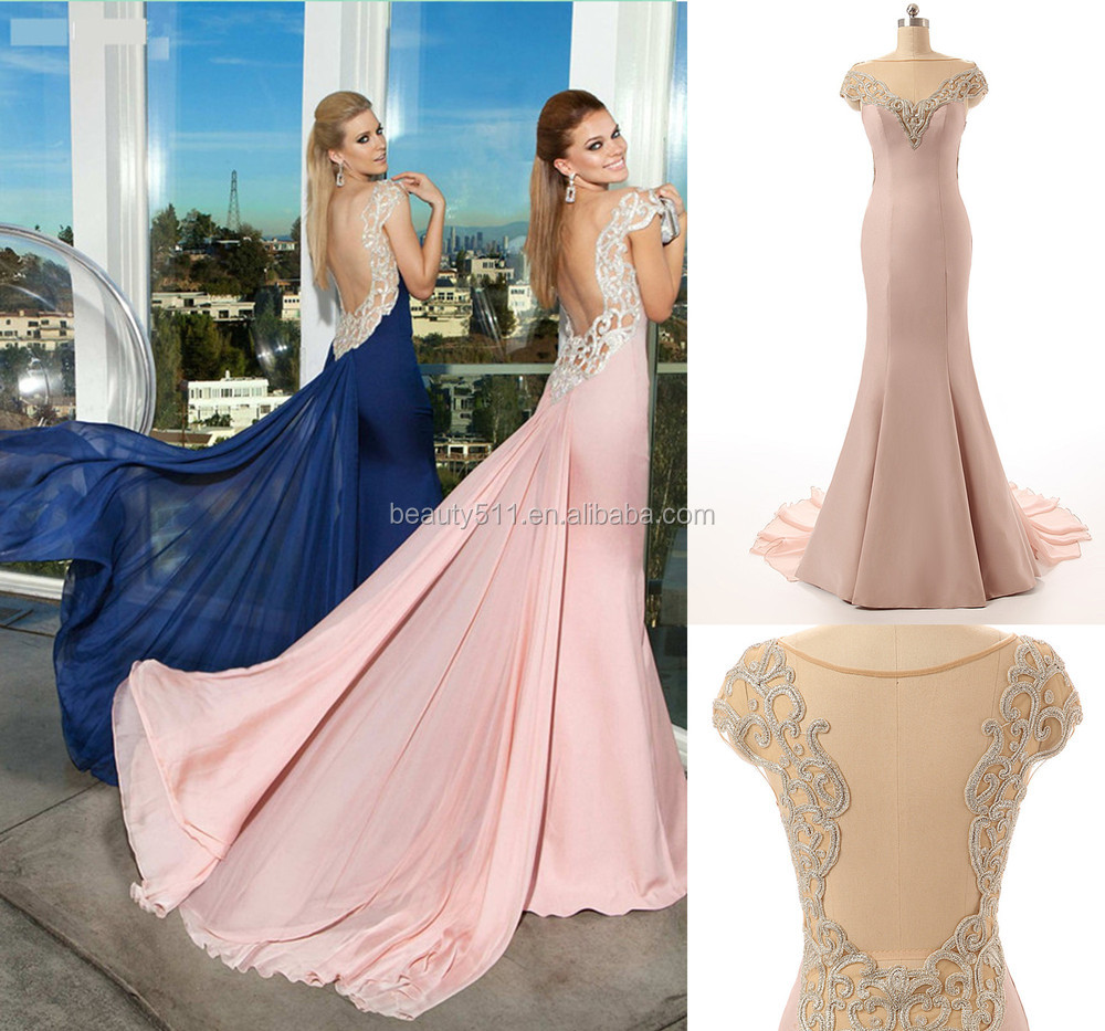 real dress Elegant Sweetheart Spaghetti Straps Backless Mermaid Lace evening dress Prom Gowns ZS15-06