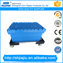 cheaper plastic logistic crate with lid