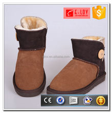 Factory direct sale leather material warm women winter boot shoes
