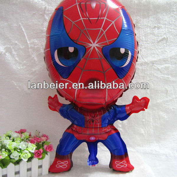 CE approved spiderman balloons in helium