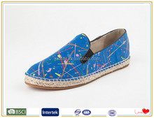 2015 Deep Blue flat Suede Casual lady fashion shoe