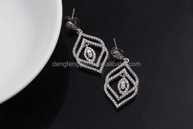 Hot Fashion Jewelry AAA Cubic Zirconia Pave Stud Earring Dangle Stone Earring