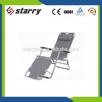 Portable Outdoor bedroom steel tube folding sling chair