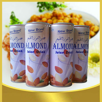 private label custom apricot kernel juice 240ml in can