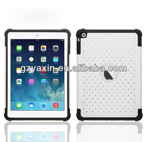 Carbon fiber case for ipad air,bling rhinestone case for ipad air