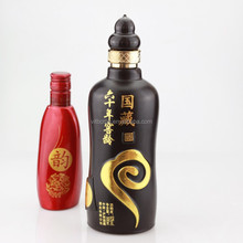 Fancy design colored glass bottle spray painting bottle liquor glass wine bottles wholesale