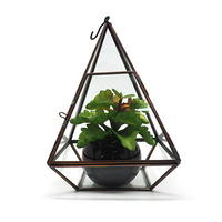 HX-8021H Floor Vases Glass Globe Hanging Terrarium Ornament Geometric