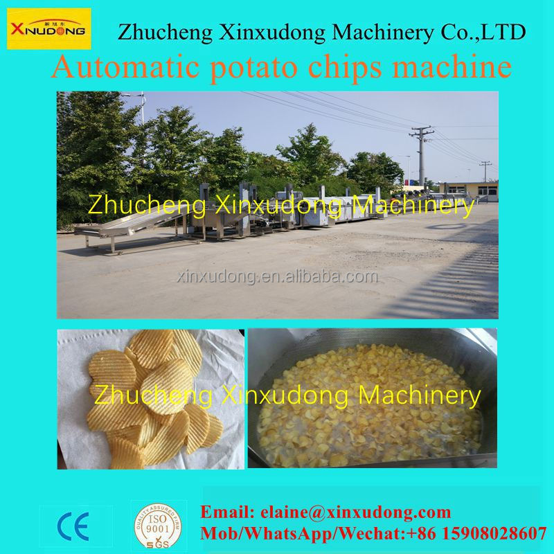 2016 potato chips production line/chips making machine/potato chips machine