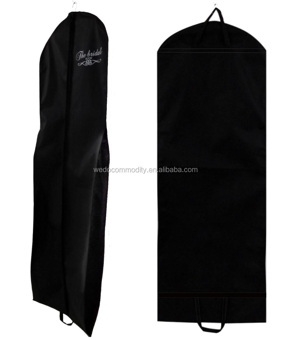 Hanging garment bag wedding dress cover clothes travel for Wedding dress garment bag for air travel