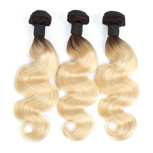 new ombre blonde red blue grey human hair weave, three tone ombre hair weaves,brazilian human hair weave