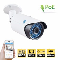 ONVIF POE IP Bullet Camera 960P 1.3mp IP66 Waterproof Metal Housing Auto IR-CUT Night Version.