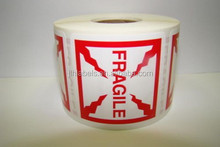 4X4 Fragile Shipping Warning Label 500abels/roll