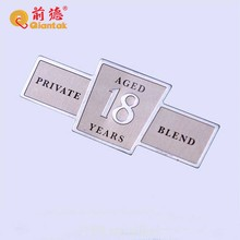 Exquisite custom made gold plated metal brass label / nameplate