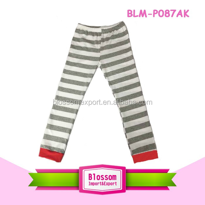 Fancy Kids Long Casual Trousers Elastic Waist Harem Pants Black And White Stripes 100% Cotton Baby Boys Harem Pants