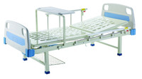 2 manual two cranks steel home care hospital bed for home use