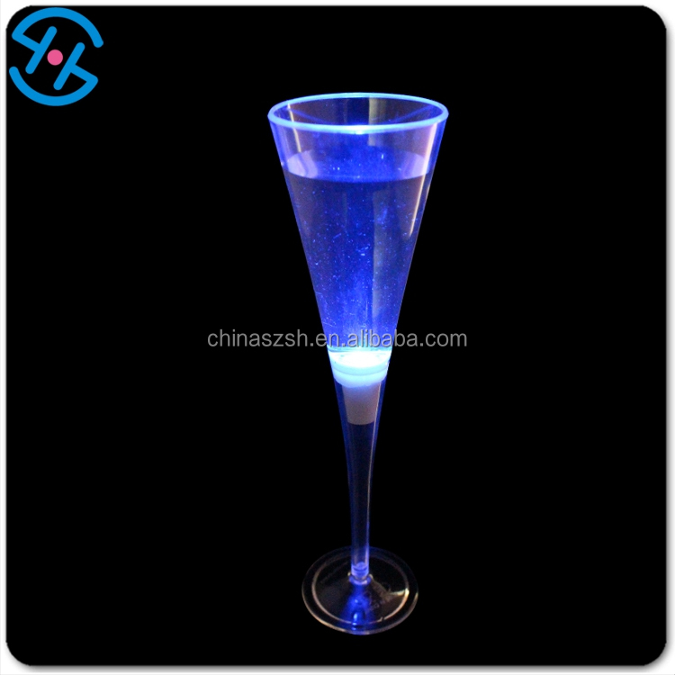 Water activated transparent party festival drinking light up glass led