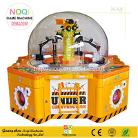 Excavator Gift Machine new coin operated kids amusement gift Game grab prize vending machine for 4 players